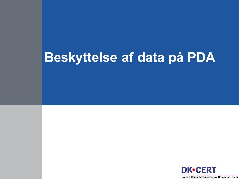 Beskyttelse af data på PDA