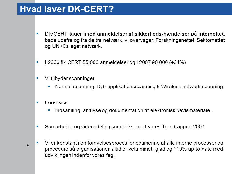 Hvad laver DK-CERT.