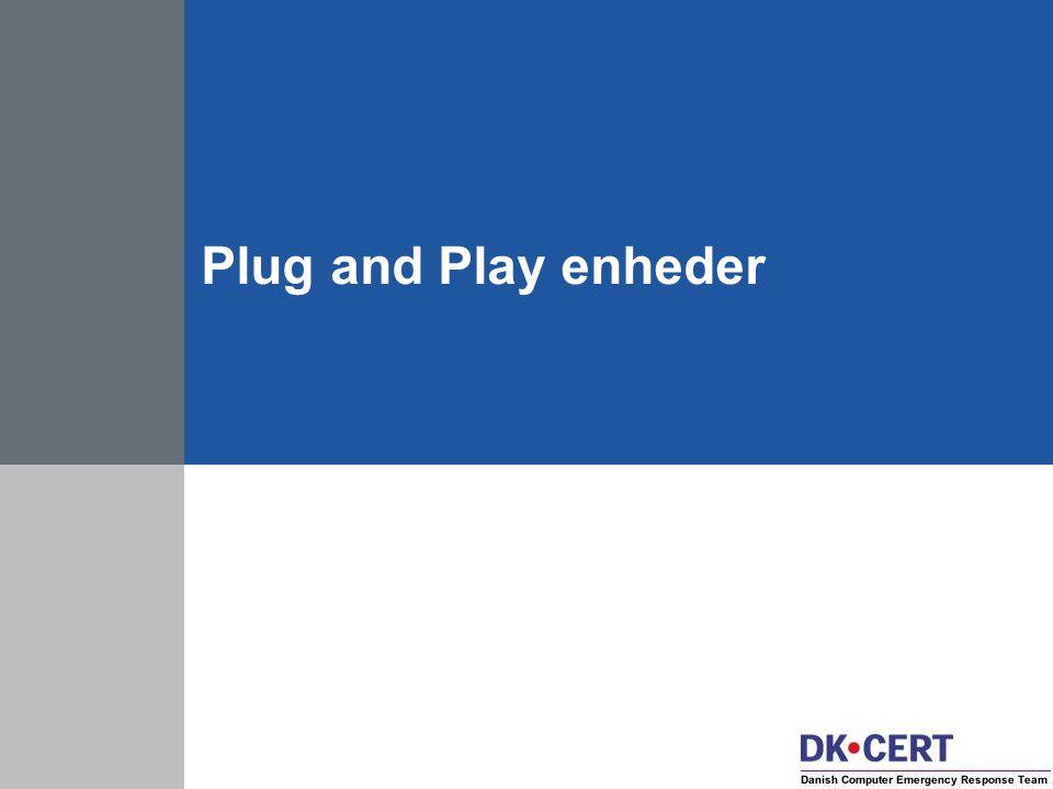 Plug and Play enheder
