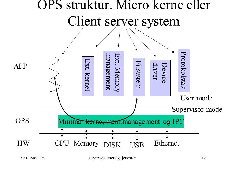Per P. MadsenStyresystemer og tjenester12 OPS struktur.