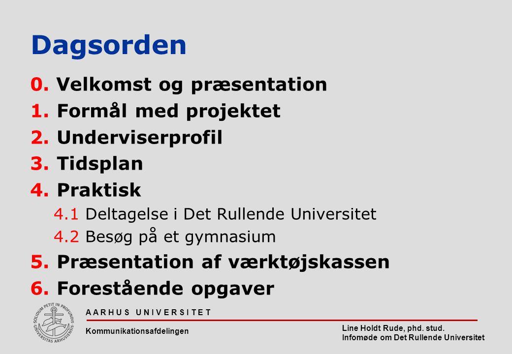 Fornavn Efternavn, Titel Evt. Arrangementsnavn Dagsorden 0.