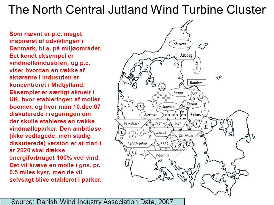 15 The North Central Jutland Wind Turbine Cluster Source: Danish Wind Industry Association Data, 2007 Som nævnt er p.c.