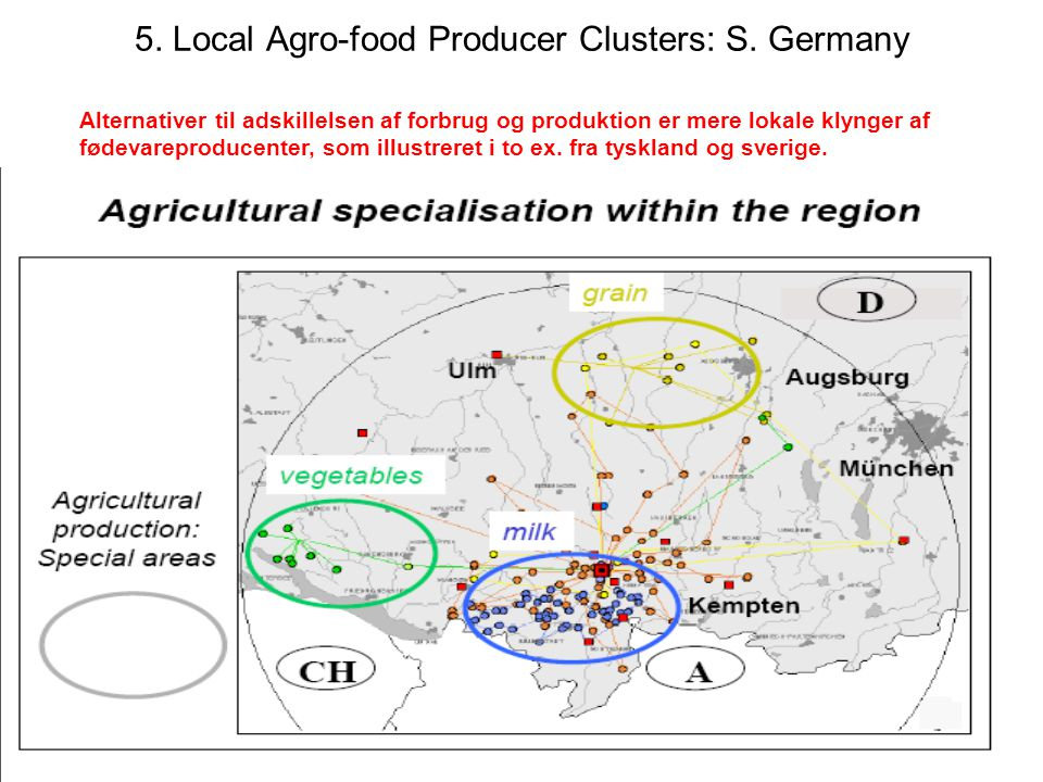 21 5. Local Agro-food Producer Clusters: S.