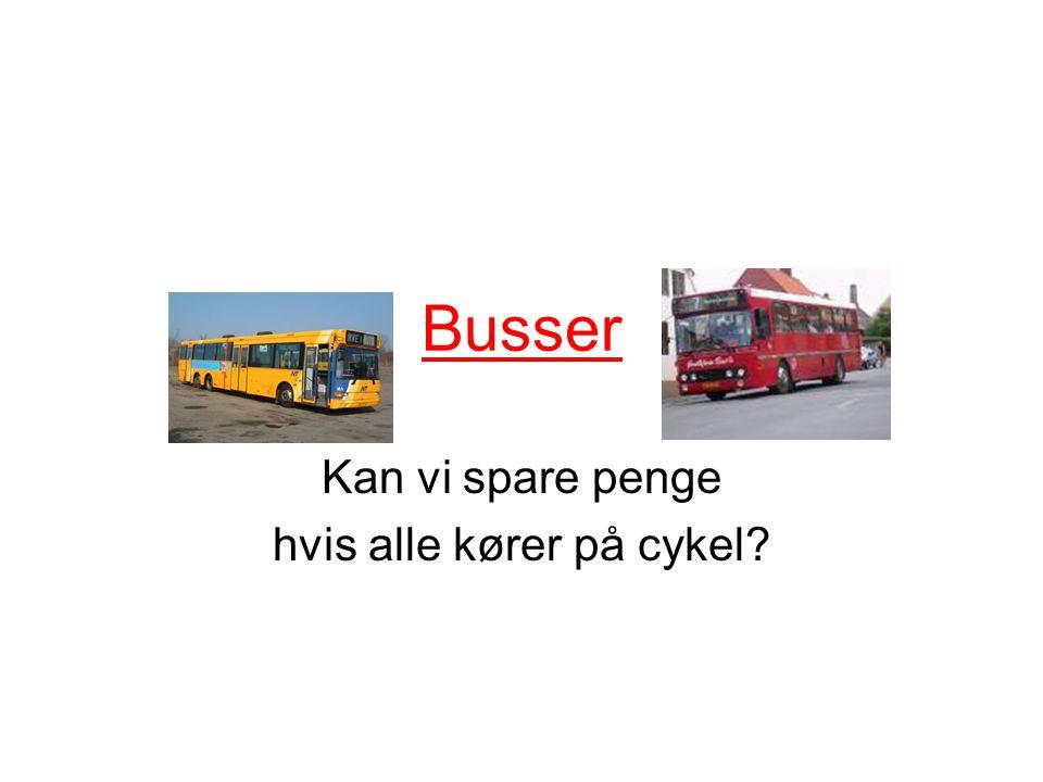 Busser Kan vi spare penge hvis alle kører på cykel