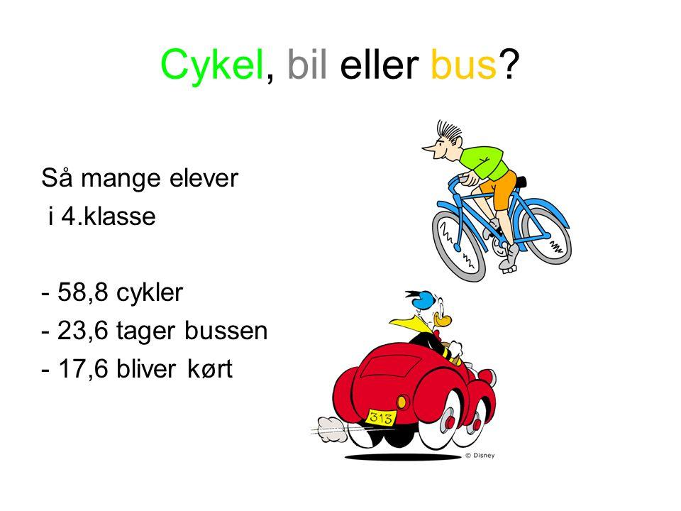 Cykel, bil eller bus.