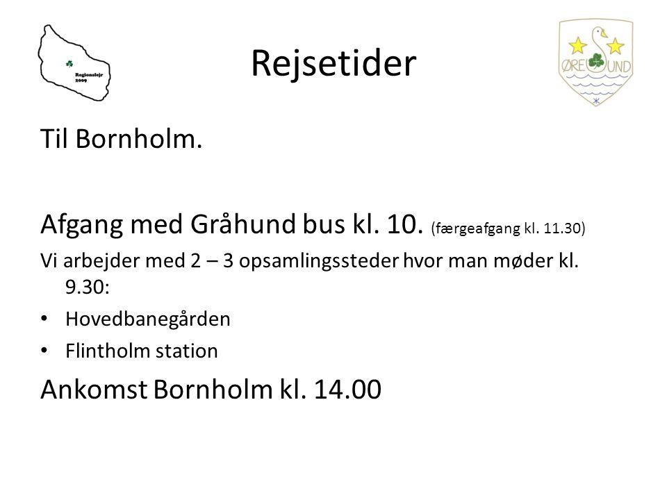 Rejsetider Til Bornholm. Afgang med Gråhund bus kl.