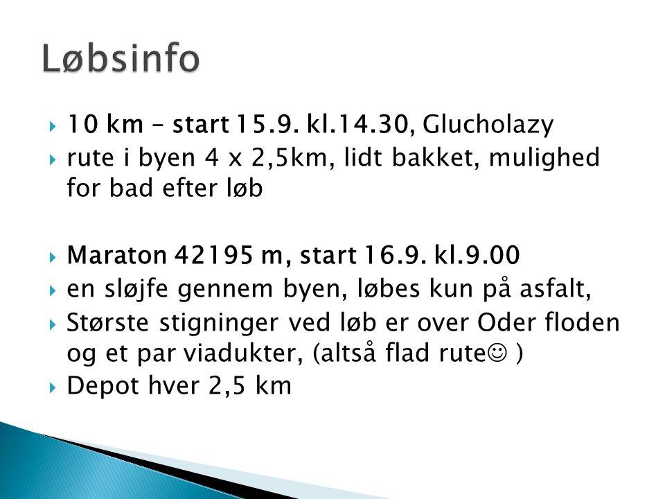  10 km – start 15.9.