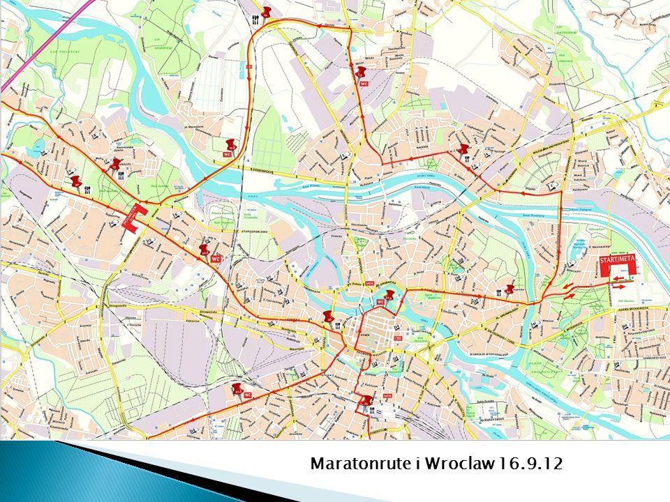 Maratonrute i Wroclaw 16.9.12