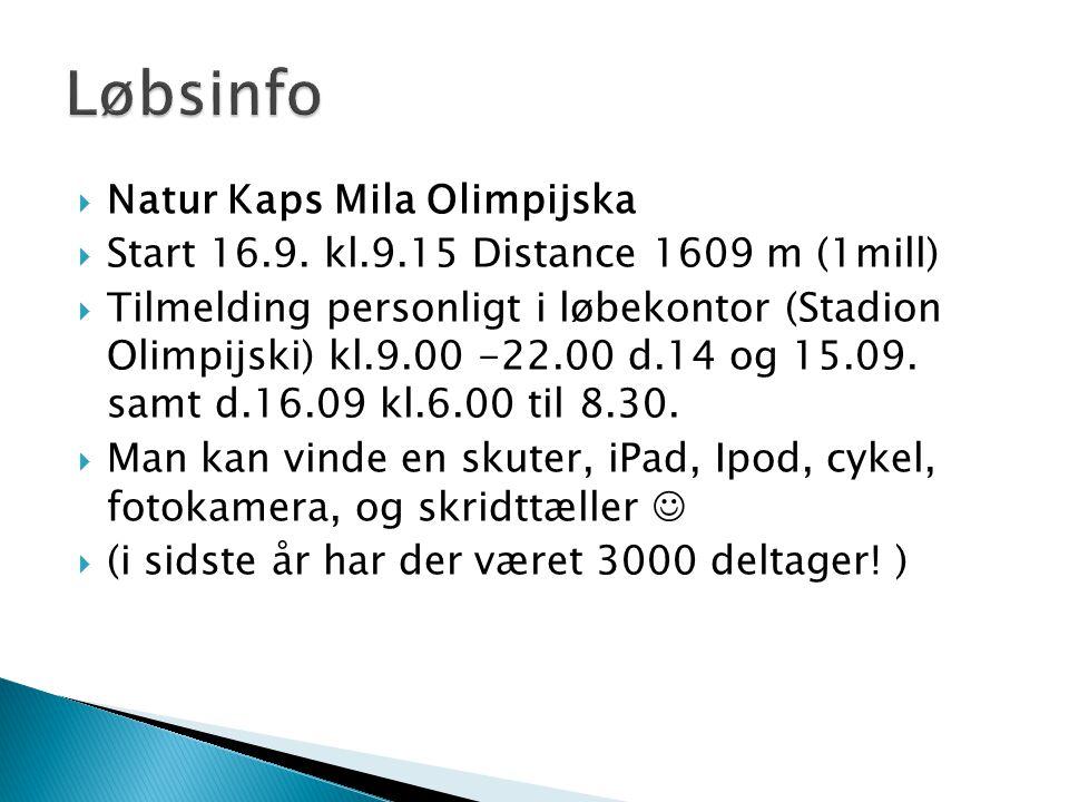  Natur Kaps Mila Olimpijska  Start 16.9.