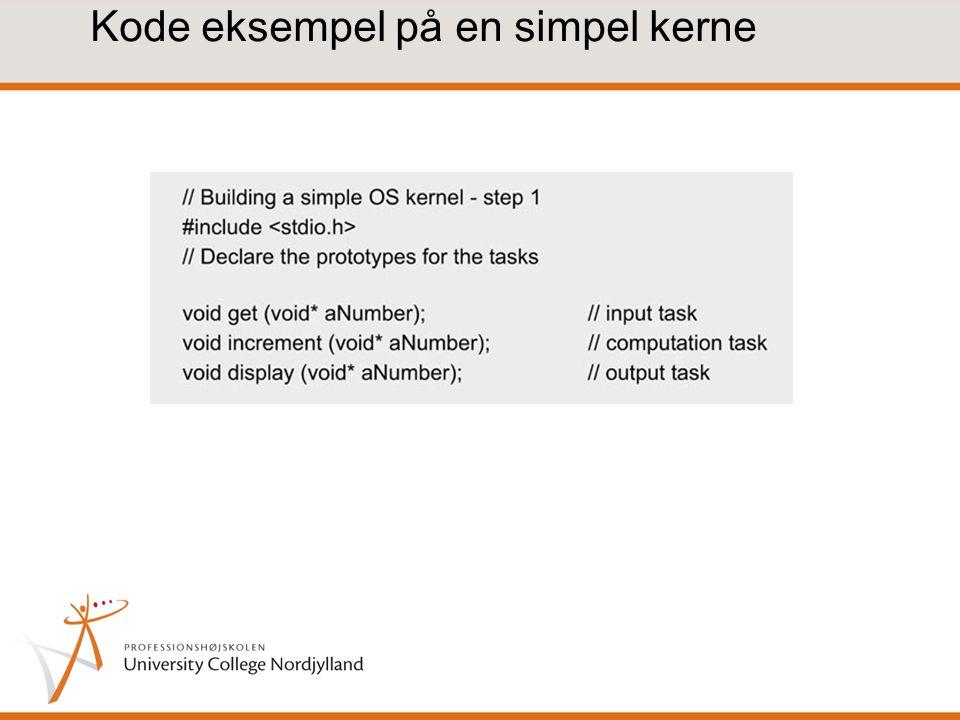 Kode eksempel på en simpel kerne
