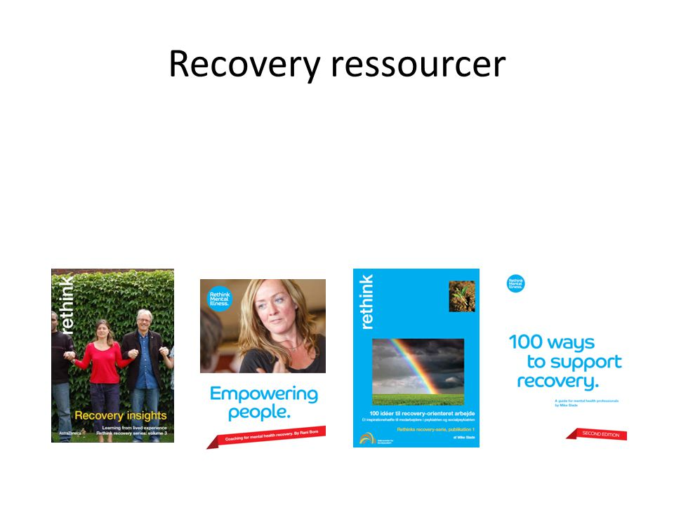 Recovery ressourcer