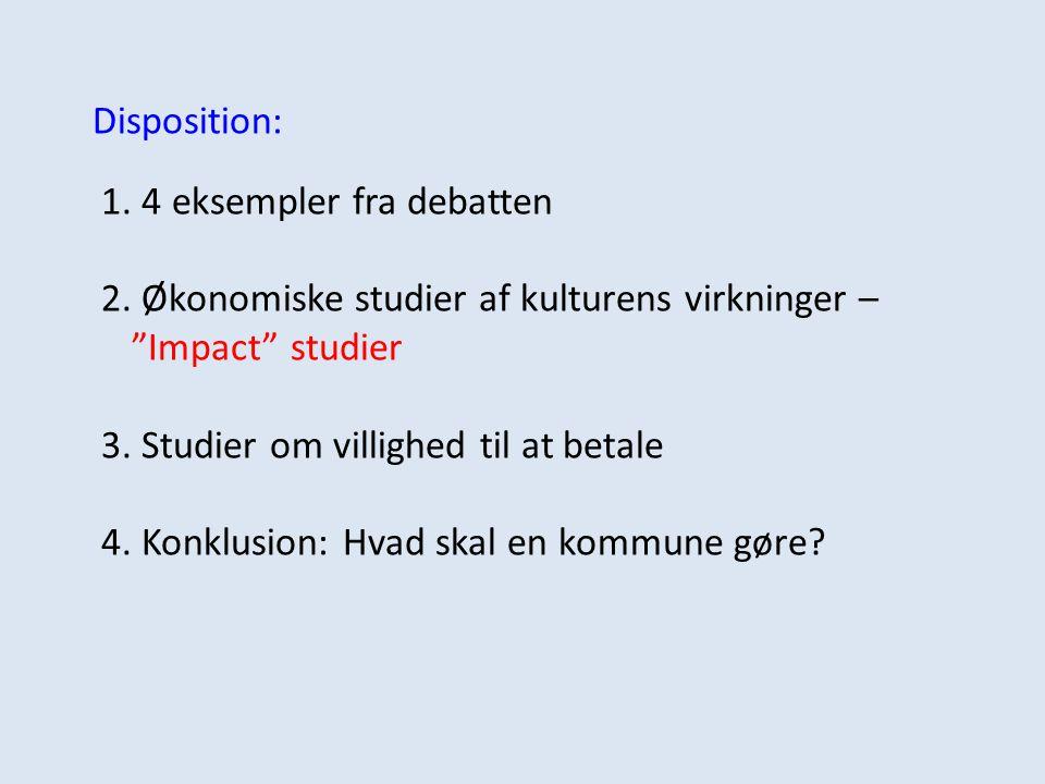 Disposition: 1. 4 eksempler fra debatten 2.