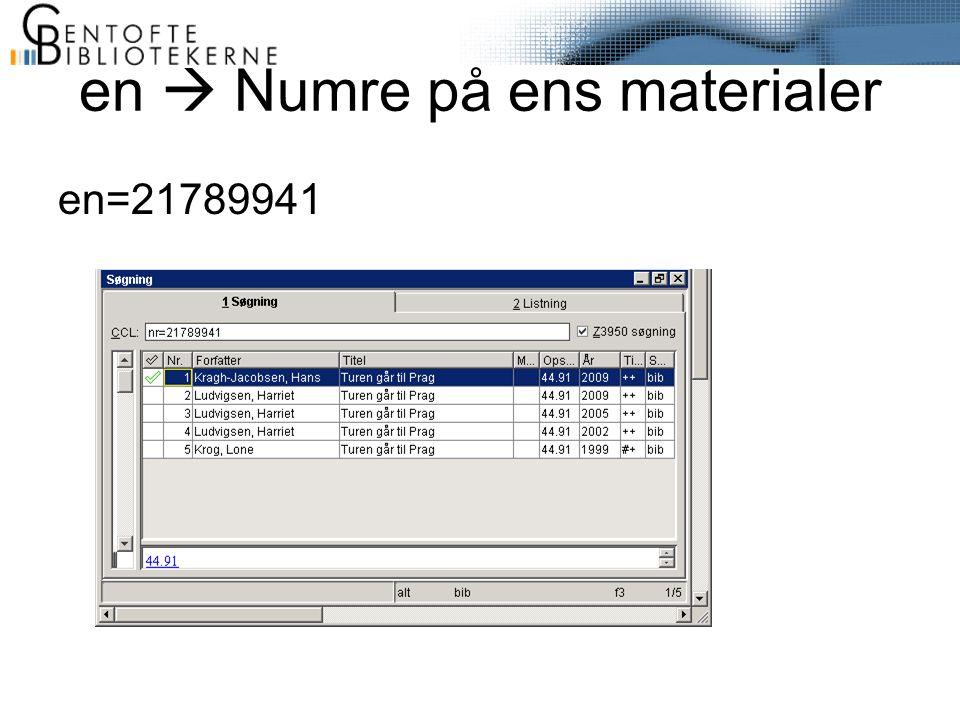 en  Numre på ens materialer en=21789941