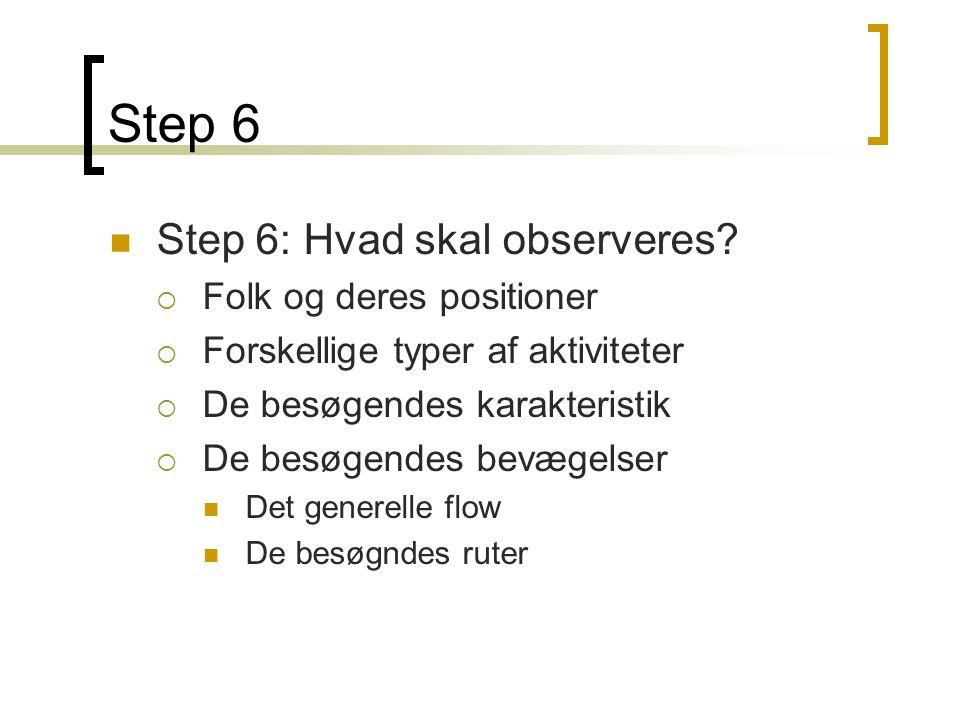 Step 6  Step 6: Hvad skal observeres.
