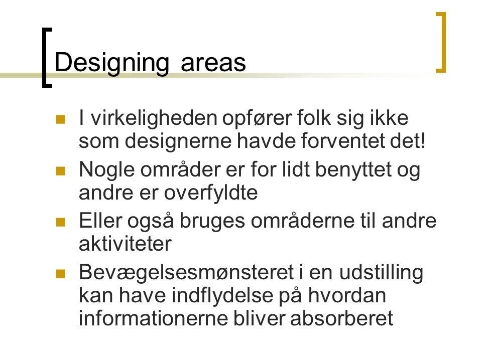 Designing areas  I virkeligheden opfører folk sig ikke som designerne havde forventet det.