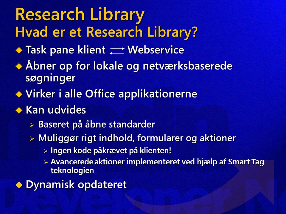 Research Library Hvad er et Research Library.