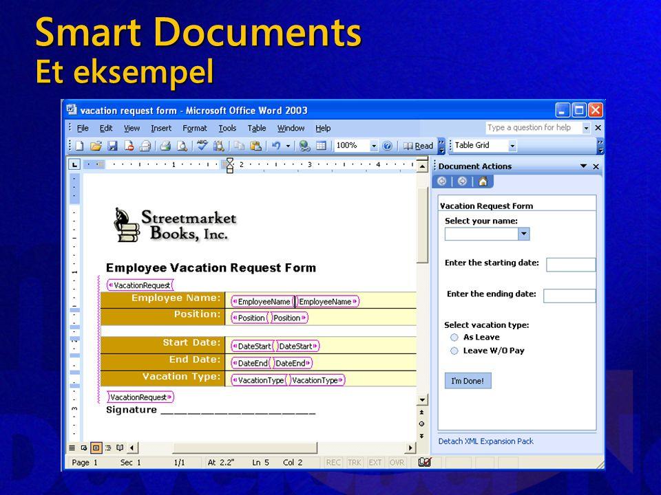 Smart Documents Et eksempel