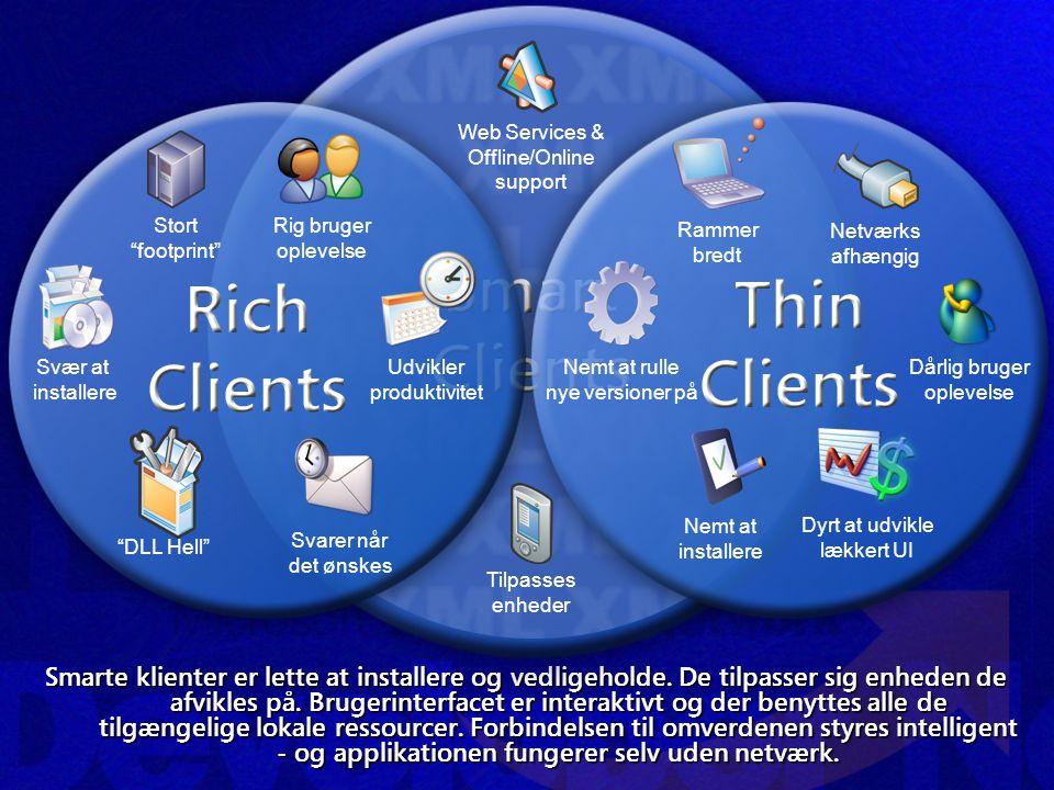 Smarte klienter er lette at installere og vedligeholde.