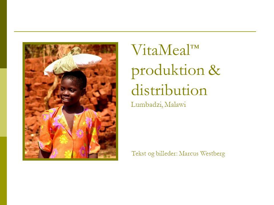 VitaMeal ™ produktion & distribution Lumbadzi, Malawi Tekst og billeder: Marcus Westberg