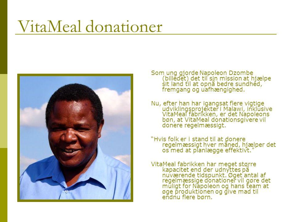 VitaMeal donationer Som ung gjorde Napoleon Dzombe (billedet) det til sin mission at hjælpe sit land til at opnå bedre sundhed, fremgang og uafhængighed.
