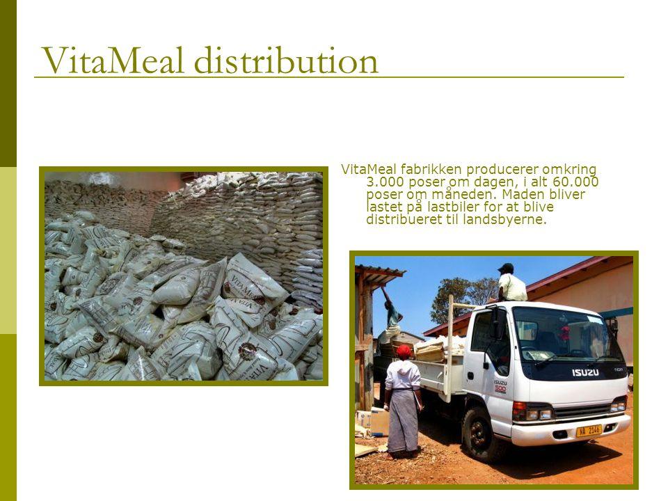 VitaMeal distribution VitaMeal fabrikken producerer omkring 3.000 poser om dagen, i alt 60.000 poser om måneden.