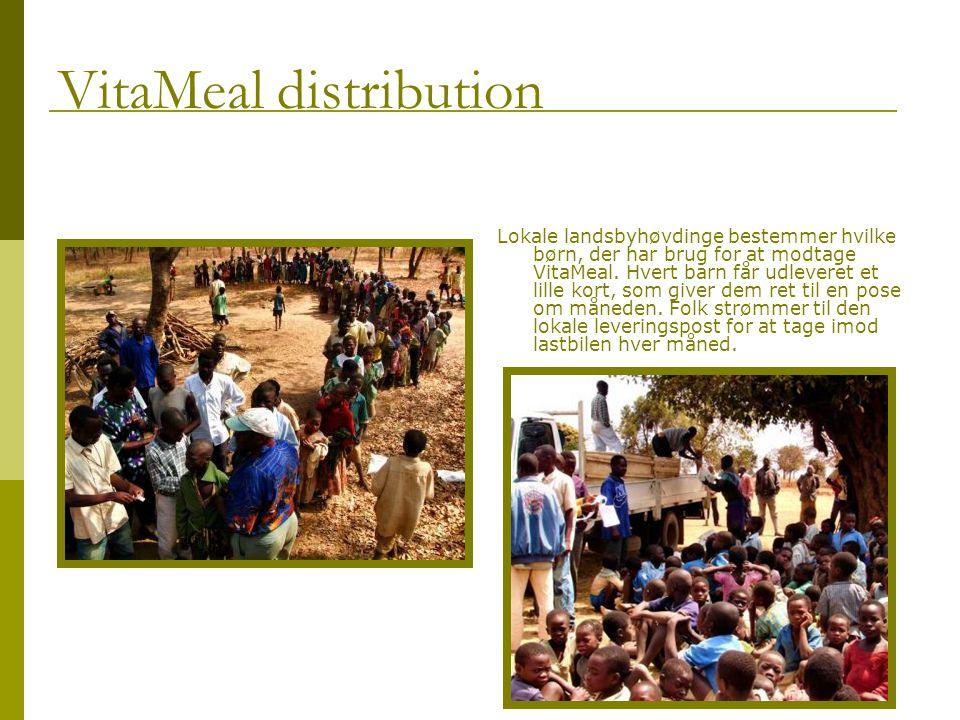 Lokale landsbyhøvdinge bestemmer hvilke børn, der har brug for at modtage VitaMeal.