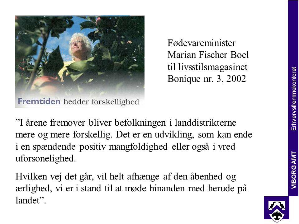 Fødevareminister Marian Fischer Boel til livsstilsmagasinet Bonique nr.