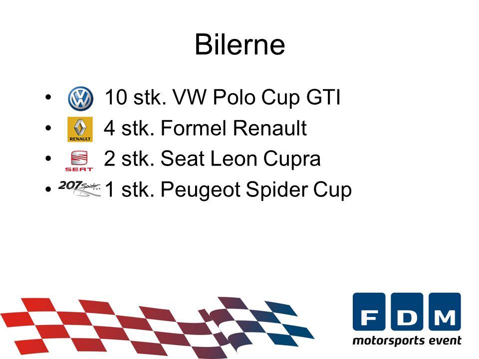 • 10 stk. VW Polo Cup GTI • 4 stk. Formel Renault • 2 stk.
