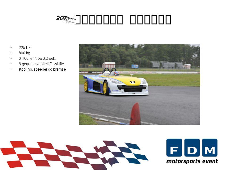 Peugeot Spider •225 hk •800 kg •0-100 km/t på 3,2 sek.