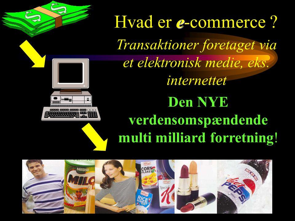 Transaktioner foretaget via et elektronisk medie, eks.