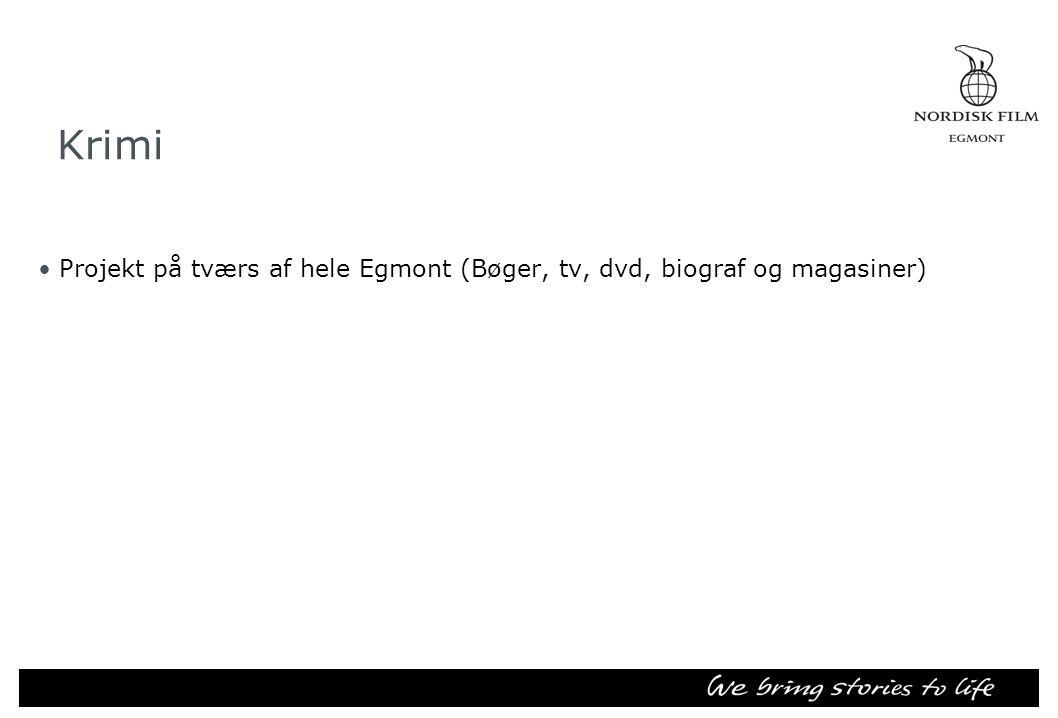 Krimi •Projekt på tværs af hele Egmont (Bøger, tv, dvd, biograf og magasiner)