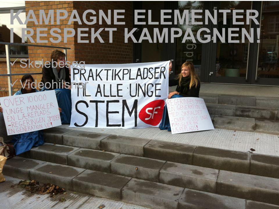  Skolebesøg  Videohilsner KAMPAGNE ELEMENTER I RESPEKT KAMPAGNEN!