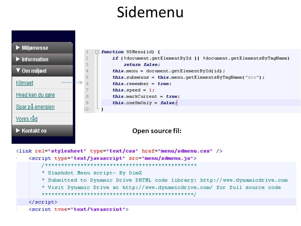 Sidemenu Open source fil: