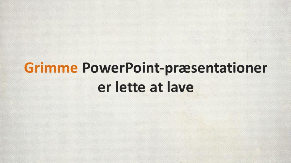 Men rigtig mange ender i stedet med kun at bruge deres slides som enten…