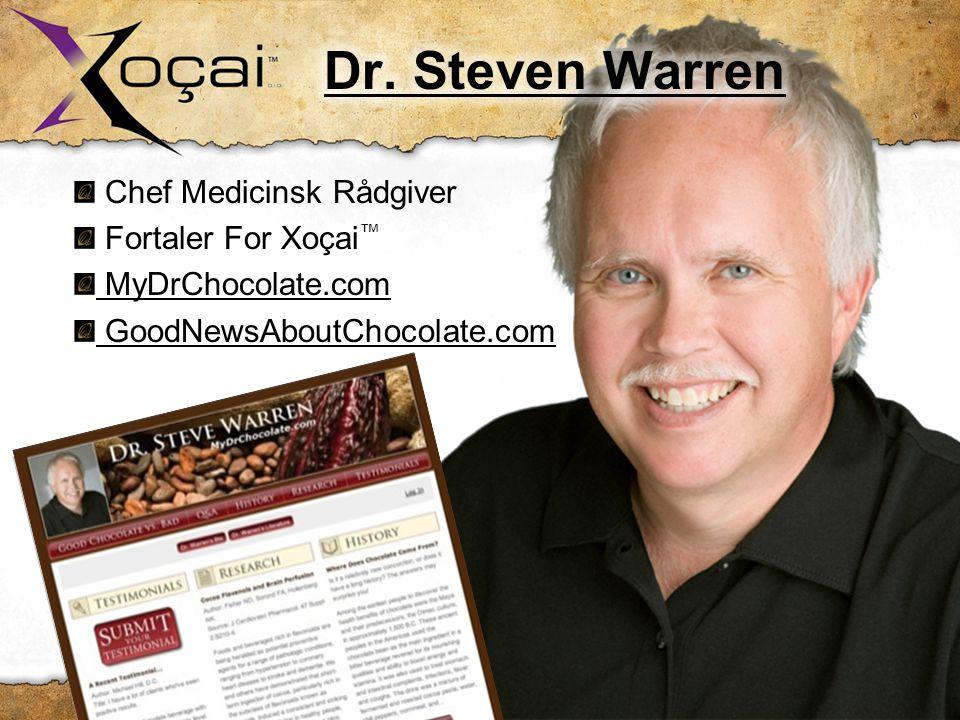 Chef Medicinsk Rådgiver Fortaler For Xoçai ™ MyDrChocolate.com GoodNewsAboutChocolate.com