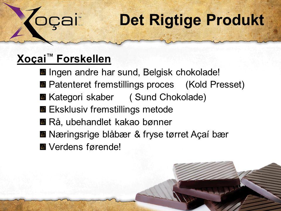 Det Rigtige Produkt Xoçai ™ Forskellen: Ingen andre har sund, Belgisk chokolade.