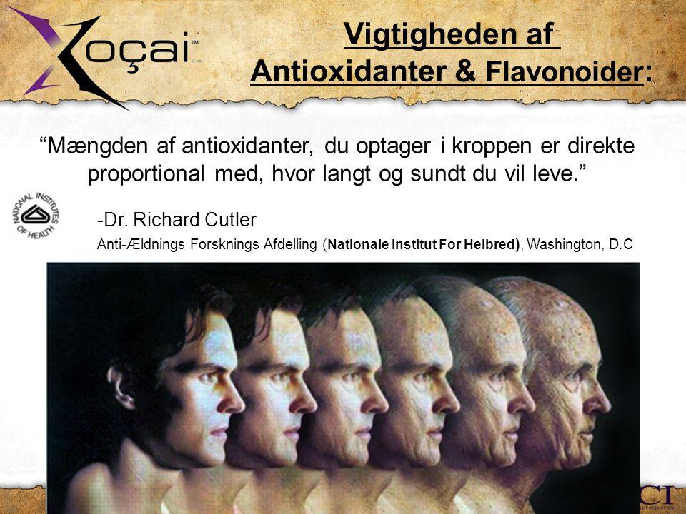 Mængden af antioxidanter, du optager i kroppen er direkte proportional med, hvor langt og sundt du vil leve. -Dr.