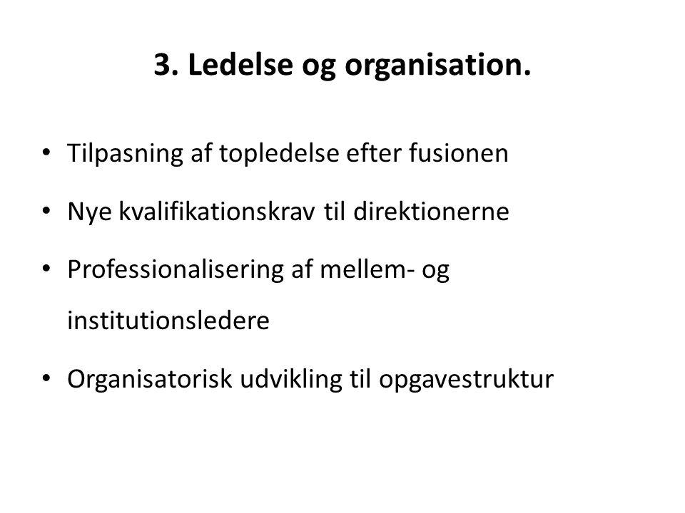 3. Ledelse og organisation.