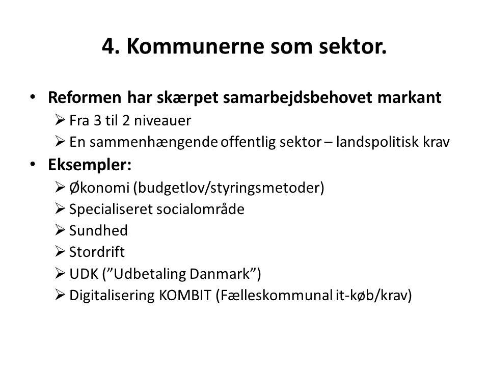4. Kommunerne som sektor.