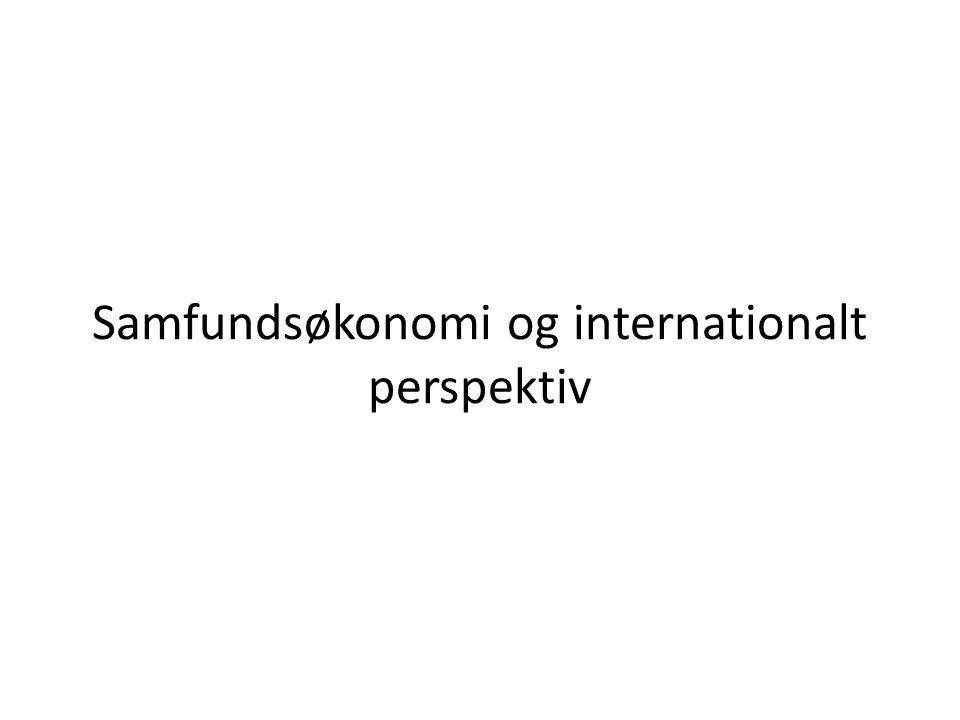 Samfundsøkonomi og internationalt perspektiv