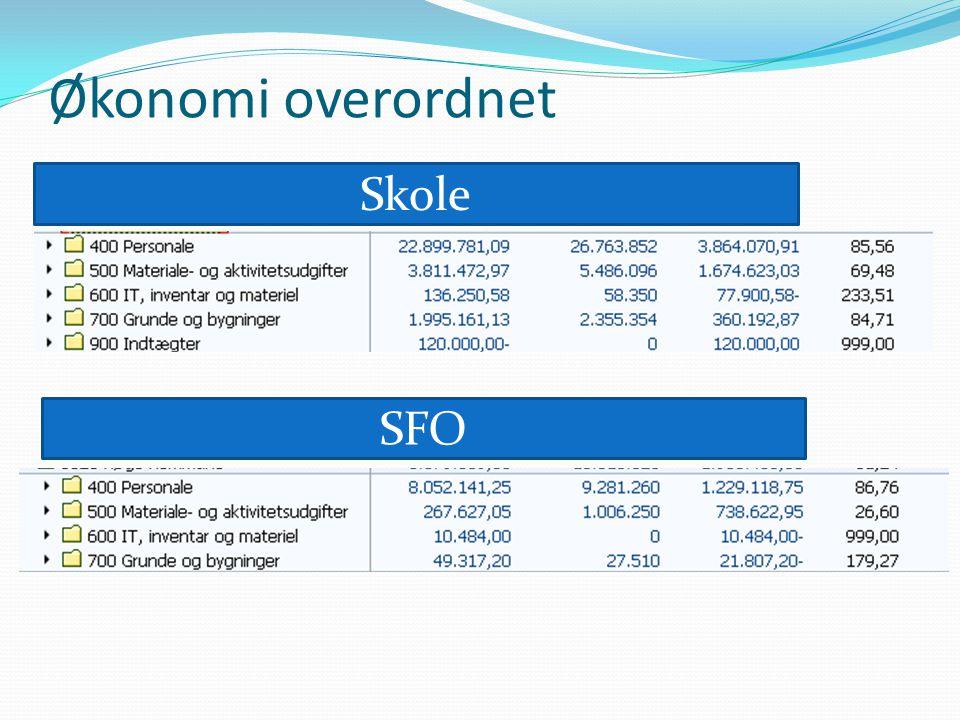 Økonomi overordnet Skole SFO
