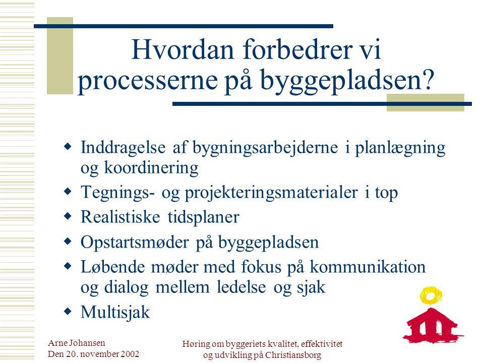 Arne Johansen Den 20.