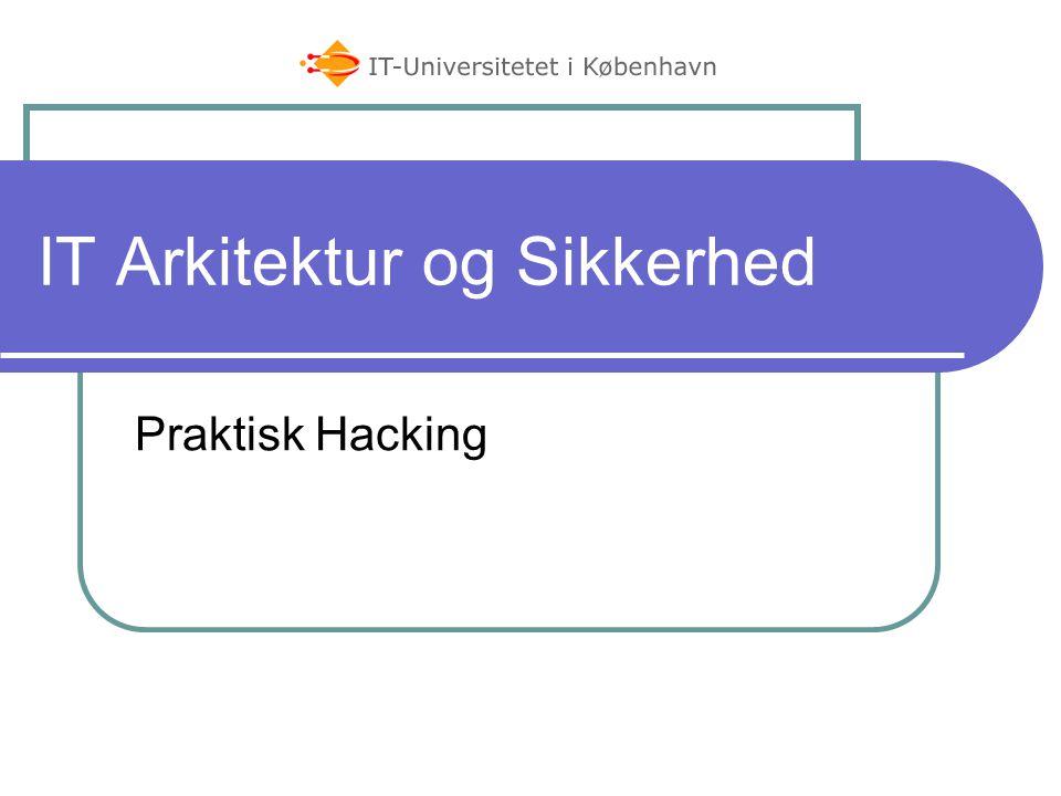 IT Arkitektur og Sikkerhed Praktisk Hacking