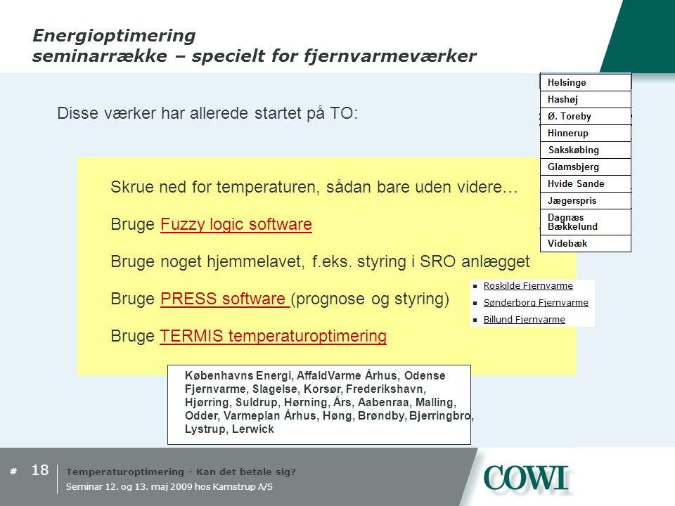 Temperaturoptimering - Kan det betale sig.