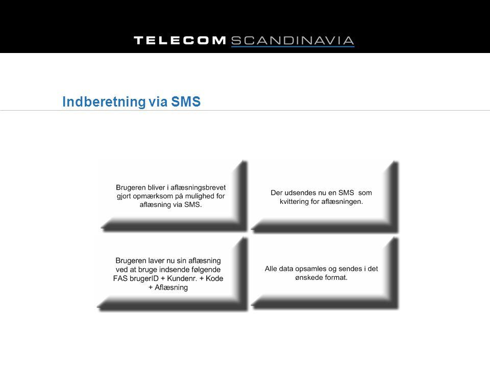 Indberetning via SMS