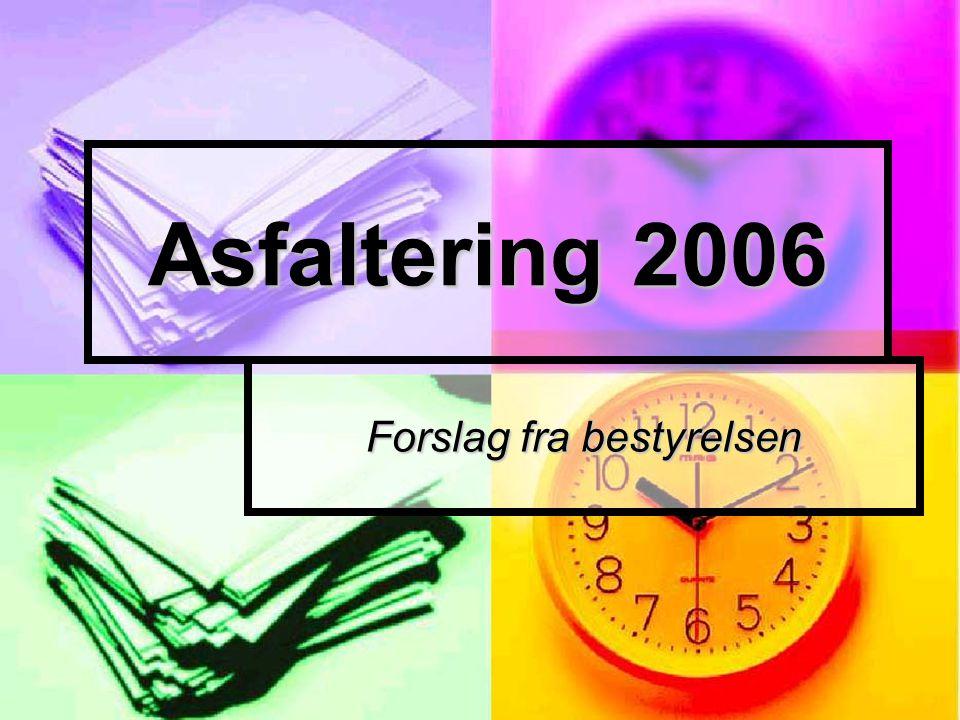 Asfaltering 2006 Forslag fra bestyrelsen