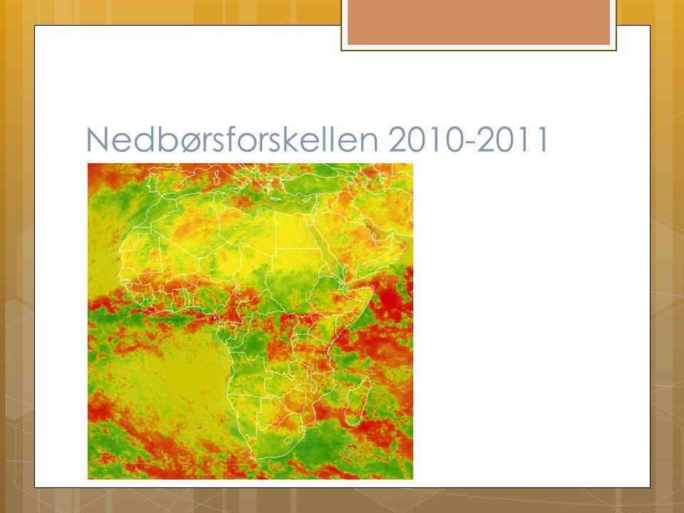 Nedbørsforskellen 2010-2011
