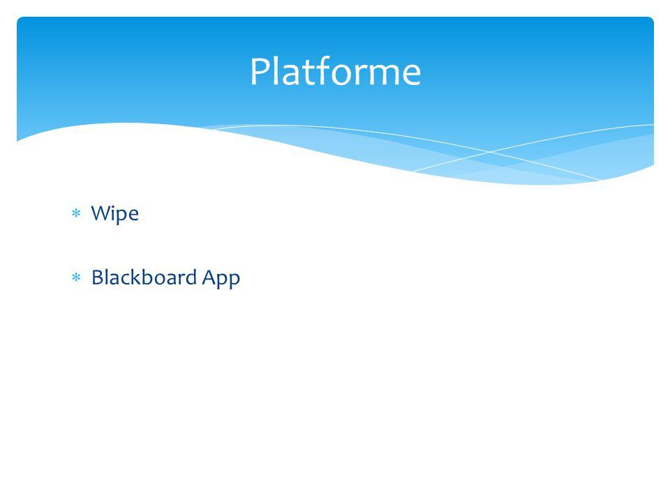 Wipe  Blackboard App Platforme