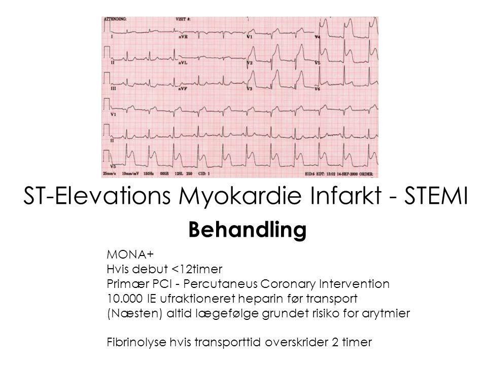 Non ST-Elevations Myokardie Infarkt – Non STEMI Eller Ustabil Angina Pectoris MONA+ Fondaparinux ( Arixtra ®) 2,5mg s.c – med mindre INR > 2!!– med mindre INR > 2!.