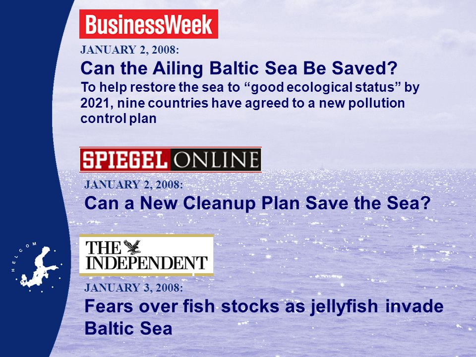 JANUARY 2, 2008: Can the Ailing Baltic Sea Be Saved.